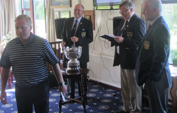 Presentation of 3rd place - County Captain AJ Edwards