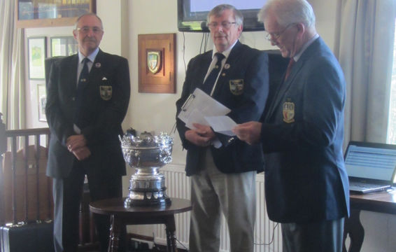 President, Secretary Tom and Ulverston Captain Frank Wickenden